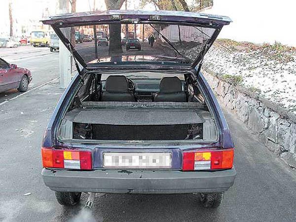 Модернизация багажника автомобиля ВАЗ 2109, установка ...